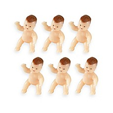 image of Wilton® Newborn Baby Figurines Favor Accents (Set of 6)