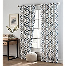 image of Cambree Ogee Rod Pocket/Back Tab Window Curtain Panel