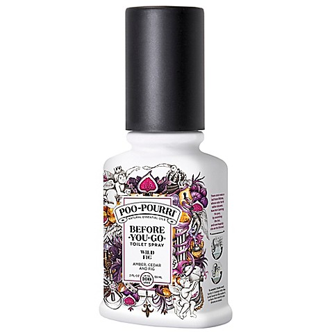 Buy poo pourri before you go 2 oz toilet spray in wild fig from bed bath beyond for Poo pourri before you go bathroom spray
