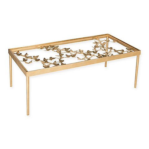 Safavieh Rosalia Butterfly Coffee Table In Antique Gold Leaf Bed Bath Beyond