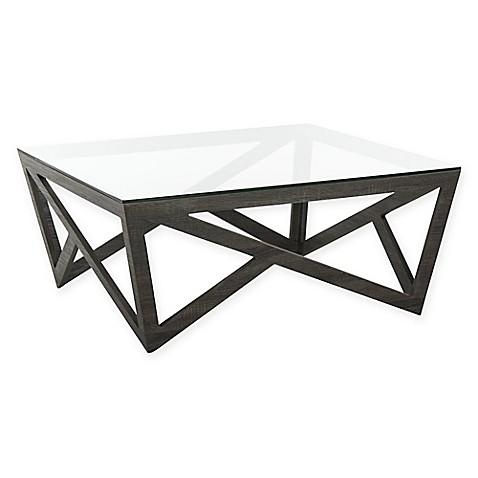 Safavieh Ralston Mid Century Gl Top Coffee Table In Dark Grey