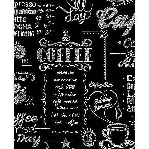graham amp brown coffee shop wallpaper in blackwhite bed