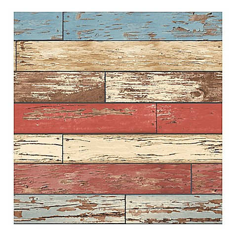 Buy a street prints reclaimed scrap wood wallpaper in red for Selling reclaimed wood