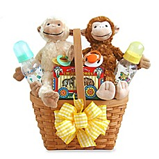 image of California Delicious Two Little Monkeys Baby Gift Basket