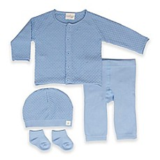 image of Cuddl Duds® 4-Piece Cardigan, Pant, Hat, and Socks Set