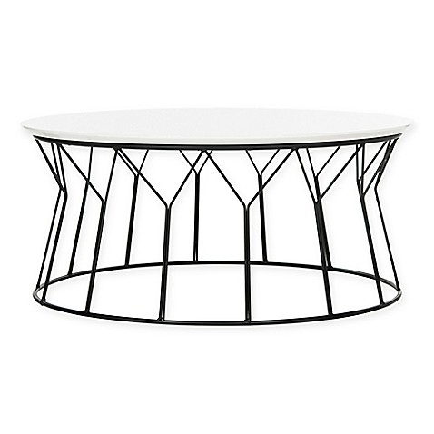 Buy Safavieh Deion Retro Mid Century Lacquer Coffee Table In Lacquer White Black From Bed Bath