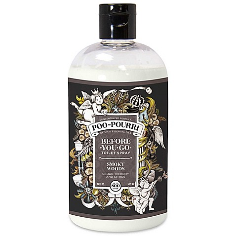 Buy poo pourri before you go 16 oz toilet spray in smoky woods from bed bath beyond for Poo pourri before you go bathroom spray