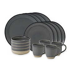 image of ED Ellen DeGeneres Crafted by Royal Doulton® Brushed Glaze 16-Piece Dinnerware Set in Grey