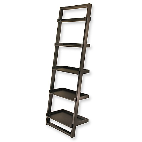 Bailey Leaning 5-Tier Bookcase