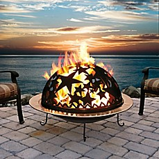 image of Starry Nite Wood Burning Fire Dome in Black
