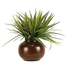image of D&W Silks Grass in Round Ceramic Planter