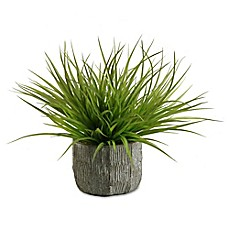 image of D&W Silks Wild Grass in Concrete Finish Planter
