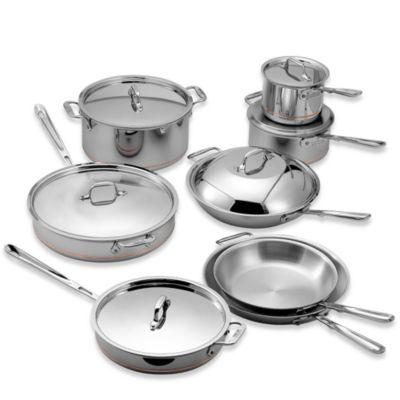 AllClad Copper Core 14Piece Cookware Set Bed Bath Beyond