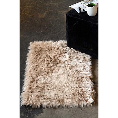 Image Of Luxe Hudson Faux Fur Sheepskin Shag Rug Throw Quick View