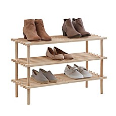 SALT™ 3 Tier Wood Shoe Rack