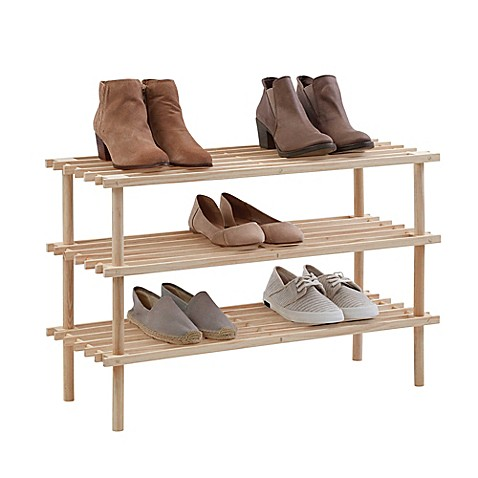 3tier wood shoe rack