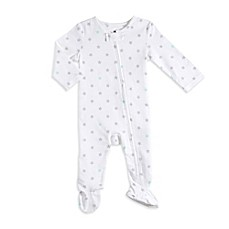image of aden® by aden + anais® Zip-Front Star Footie in Grey/Blue