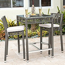 image of panama jack graphite 3piece outdoor pub set in grey