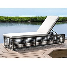 image of panama jack graphite outdoor chaise lounge with wheels in grey