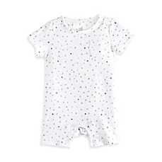 image of Aden® by Aden + Anais® Dot Romper in Grey/Blue