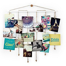 image of Umbra® Dangle Photo Display Wall Collage in White