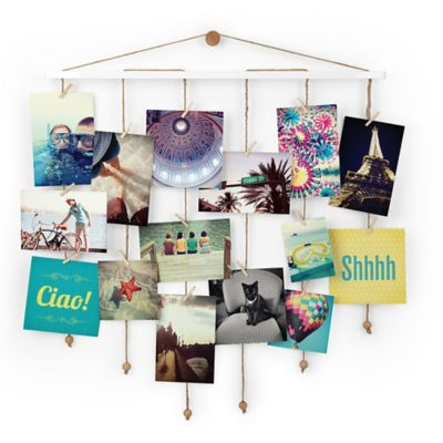 Home · college · decor · wall decor frames · umbra dangle photo display wall collage in white