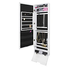image of Door Solutions™ Mirror Jewelry and Accessory Organizer in White