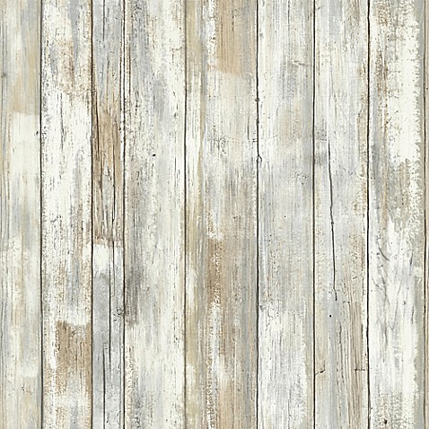 Roommates Distressed Wood Peel Stick Wall D Cor In