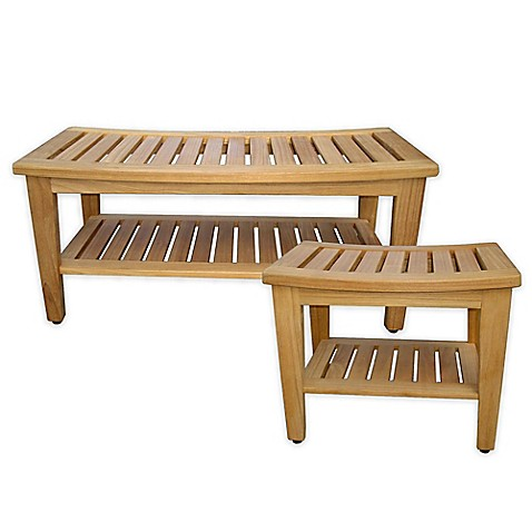 teak shower bench collection