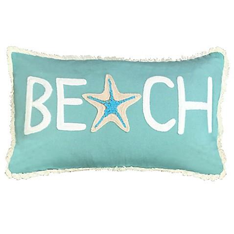 Bed Bath And Beyond Blue Throw Pillows : Beach Oblong Throw Pillow in Capri Blue - Bed Bath & Beyond