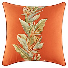 image of Tommy Bahama® Birds of Paradise Square Throw Pillow in Spice
