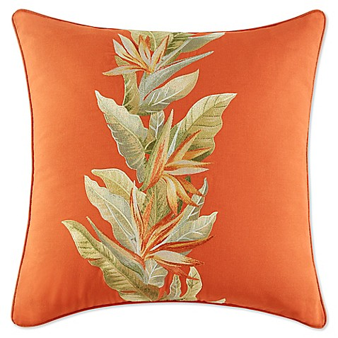 Tommy Bahama 174 Birds Of Paradise Square Throw Pillow In