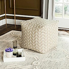 image of Safavieh French Leaf Pouf