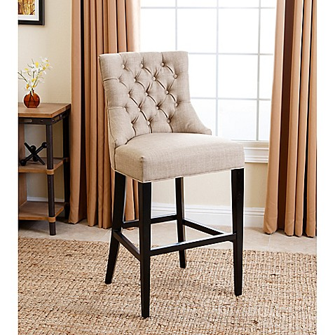 Buy Abbyson Living 174 Tivoli Tufted Barstool In Beige From