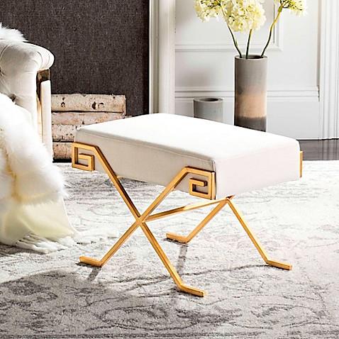 Safavieh Luna Greek Key Bench In Beige Bed Bath Amp Beyond