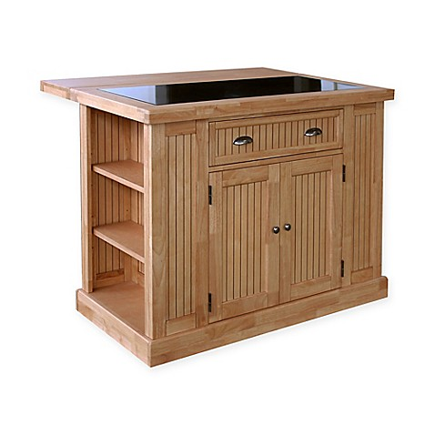 Home Styles Nantucket Natural Kitchen Island With Granite