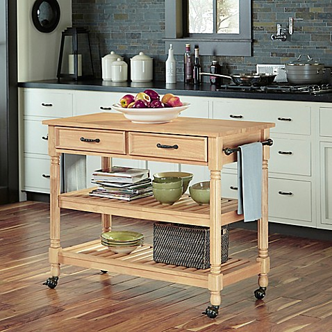 Home Styles Savannah Natural Kitchen Cart In Maple Bed