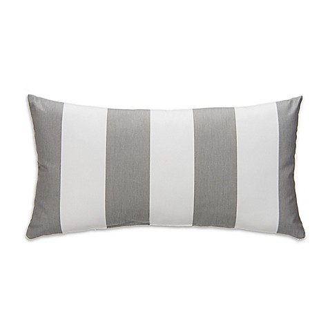 Grey Rectangular Throw Pillow : Glenna Jean Lil Sailboat Striped Rectangular Throw Pillow in Grey/White - buybuy BABY