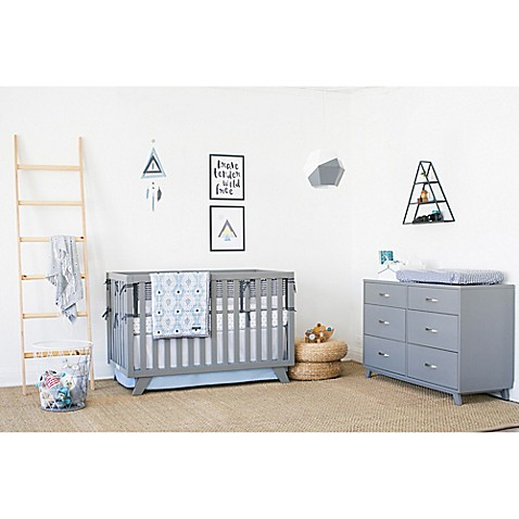 Petunia Pickle Bottom® Southwest Skies Crib Bedding Collection in Grey/Blue