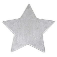 image of Hello Spud Plush Star-Shape Blanket in Grey
