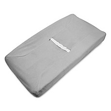 image of American Baby Company® Heavenly Soft Chenille Contoured Changing Pad Cover in Grey