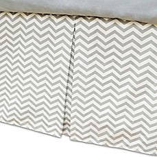 image of American Baby Company® Zigzag Crib Skirt in Grey/White