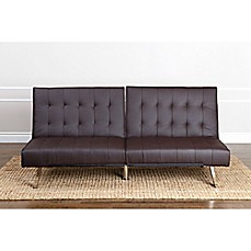image of Abbyson Living® Jackson Faux Leather Futon Sofa