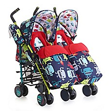 image of Cosatto Supa Dupa Double Stroller in Monster 2 Multi