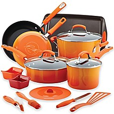image of Rachael Ray™ Hard Enamel Nonstick 16-Piece Cookware Set