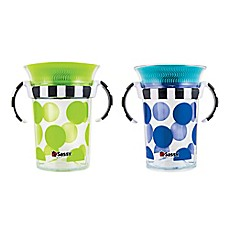image of Sassy® 2-Pack 7 oz. Grow Up Cup™ in Green/Blue