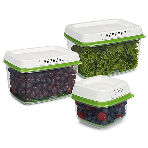 Vegetable Saver Containers Rubbermaid freshworks 6 piece produce saver bed bath beyond rubbermaidreg freshworkstrade 6 piece produce saver workwithnaturefo
