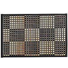 image of Bamboo Black Woven Checked Placemat
