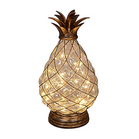 30 light led glass pineapple bed bath beyond