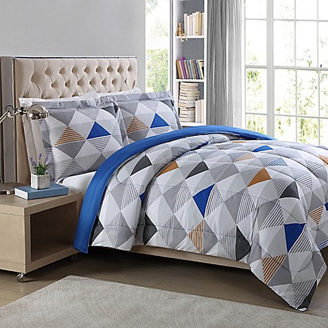 Metro 3 Piece Geometric Comforter Set Bed Bath Amp Beyond